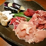 軍鶏十番 - 軍鶏素焼き・焼き野菜