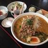 麺庄 - 料理写真:四川担々麺ランチセット