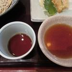 蕎麦遊膳 花吉辰 - 蕎麦汁と天麩羅の汁