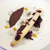 ル・ヴァンテール - 料理写真:フランス産露地物ホワイトアスパラのエチュベ 細目昆布とカカオのバター