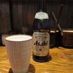 まるららーめん - ビール 500円