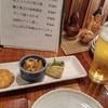 食彩 悠然 - 料理写真:お通しと生ビール(570円)