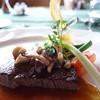 メインダイニングルーム 三笠 - 料理写真:国産牛フィレ肉のステーキ、茸を添えて、マデラソース、アップ写真!