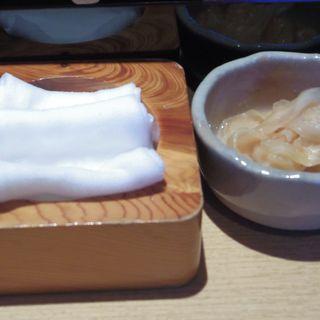 鮨人 - 料理写真:お手ふき、がり