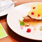 アナログ カフェ ラウンジ トーキョー - 白桃とアールグレイのタルト