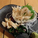 苫小牧新鮮魚市場 - 活ホッキ貝の刺身