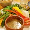 やきとんひなた - 料理写真:季節の野菜のバーニャカウダ(480円)(2012/9)