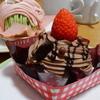 シャトレーゼ - 料理写真:「チョコバナナとイチゴのケーキ」