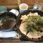 和 てじまぅる 酒菜 角萬 山形庄内と平牧豚料理 - 香味ねぎ肉南蛮そば倍盛 ¥800→\600-