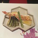 京料理 春神 - 海老のあられ揚げ