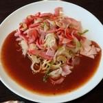 ヨコイ - 王道(?)の「ミラカン」(ナンだか「赤ウィンナー料理」みたいだな)
