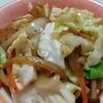 線條手打餃子専門店 - 野菜炒め