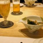 おたる政寿司 - ビールと小鉢