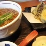 なかやしき - 野菜の天ぷらそば