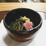 なる屋 - 先付 山菜のお浸し(わらび、つくしなど)