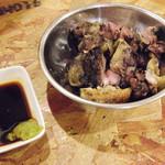 キテレツ - 親鶏のモモ焼き \680