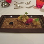 エタンセール カワモト - シェフから御挨拶の一皿