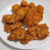 ヤマタツ - 料理写真:手前から一口ビフカツ5個で340円、コロッケ80円×2、コーンボール4個で120円