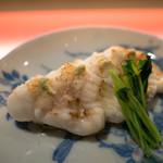 日本酒宿七色 - 穴子白焼き