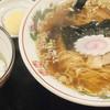壱萬館 - 料理写真:平日ランチセット(中華そば・小ライス):500円/2016年4月