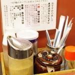 ラーメン 大至 - つけ麺用調味料