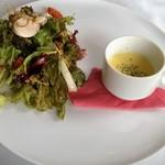 49554843 - パスタ・ランチプレート:サラダ&スープ