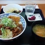 小田原パーキングエリア(下り線)スナックコーナー - 牛めし丼の朝定食  400円