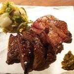 49570947 - 牛タン味比べ(肉増し)のアップ
