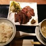 49570949 - 牛タン味比べ定食(肉増し)