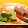 仁松庵 - 料理写真:デザートは抹茶のわらび餅とあずき羊羹。ごちそうさまでした。