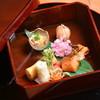 日本料理 徳専 - 料理写真:若筍の春巻き カラスミ餅 タラの芽の天婦羅 能登マスの酒麹焼き 鯛の子