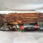 魚三 - 家族へのお土産です。 香ばしく、柔らかく タレと、味の相性も 抜群です。