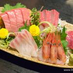 ウオツネ - お刺身盛合 6点盛【2016年1月】
