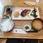 さち福やCAFE - 【赤魚の粕漬け焼と春野菜添え定食…1,166円】2016/3