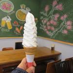 Cafe金次郎 - まきばの学校濃厚ミルクソフト!