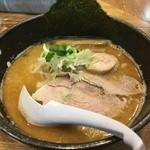 めんごころ なつ - 鶏白湯+さんま香味油(2016年3月)