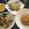 中華麺飯店 南湖茶屋 - 料理写真:五目チャーハン+棒棒鶏サラダ+水餃子