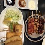 うな鐵 - 串揚げ6本 短尺 キモ ヒレ