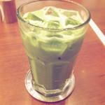 丸の内 CAFE 会 - 抹茶ラテ アイス