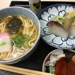 49672615 - さば寿司うどんセット