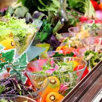 地元農家・地元大塚青果店から仕入れた安心・安全・新鮮野菜のサラダバー