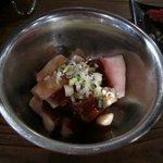 昭和ホルモン食堂 - それである意味この日のお目当てだった小腸(丸腸)を注文しました