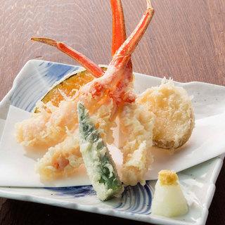北の味紀行と地酒 北海道 - ずわい蟹天麩羅