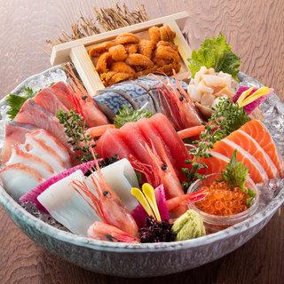 北の味紀行と地酒 北海道 - 北海道 大漁盛り