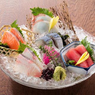 北の味紀行と地酒 北海道 - 北海道 5種刺身盛り