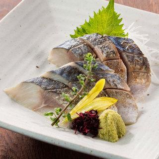 北の味紀行と地酒 北海道 - 北釧鯖の炙り〆さば