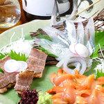 鬼の厨 しんすけ - 料理写真:おまかせお刺身3種盛り