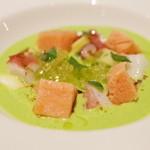 ラルテ沢藤 - グリーンピースのスープ