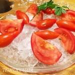鮭殻荘 - 2016 究極の冷やしトマト 580円