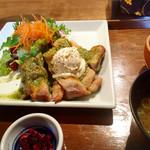 伊右衛門サロン - チキンのオーブン焼き御膳¥1,026